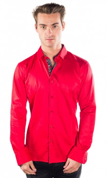 JPJ Silk Red Shirt