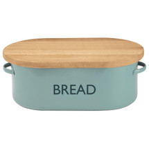 Vintage Tin Bread Box - Blue