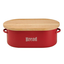 Vintage Tin Bread Box - Red
