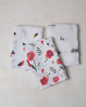 Summer Poppy Swaddle Set