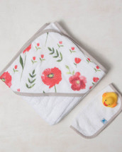 Summer Poppy Hooded Towel Set