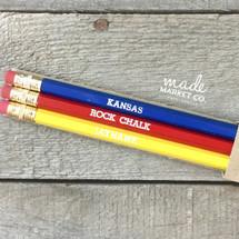 Team KU Pencil Set