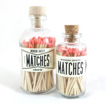 Coral Matches Apothecary Vintage