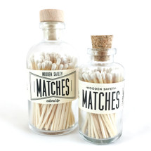 White Matches Apothecary Vintage