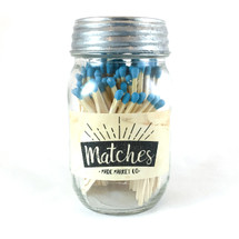 Aqua Matches Mason Jar
