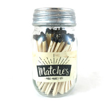 Black Matches Mason Jar
