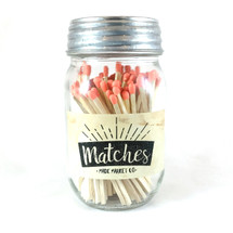 Coral Matches Mason Jar