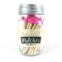 Pink Matches Mason Jar