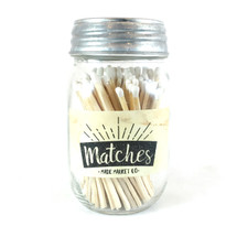 White Matches Mason Jar