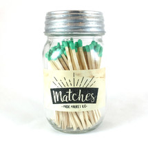 Green Matches Mason Jar