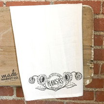 Kansas Sunflower Tea Towel
