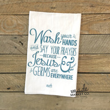 Jesus & Germs Tea Towel