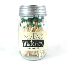Olive Green Matches Mason Jar