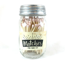 Light Pink Matches Mason Jar
