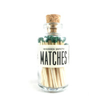 Apothecary Vintage Olive Green Matches Small