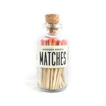 Apothecary Vintage Coral Matches Small