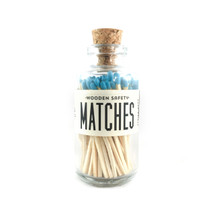 Apothecary Vintage Aqua Matches Small
