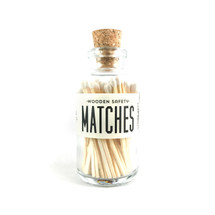 White Matches Apothecary Vintage Small