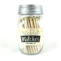 Gold Matches Mason Jar