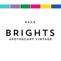 Brights Pack Matches Apothecary Vintage