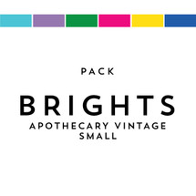 Brights Pack Matches Apothecary Vintage Small