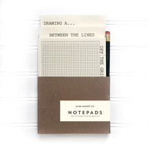 Black Notepad Pencil Set