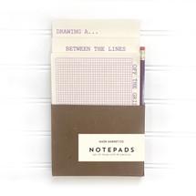 Purple Notepad Pencil Set
