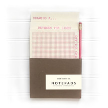 Pink Notepad Pencil Set