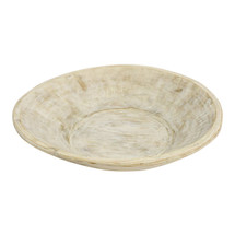 Found Dough Bowl White Wash Large