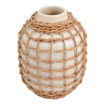 Rattan Vase White