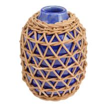 Rattan Vase Indigo