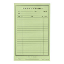 Notepad Back Ordered