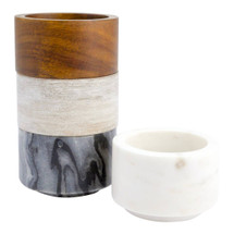 Marble & Wood Mini Bowl Set