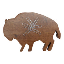 Buffalo Wood Desk Magnet