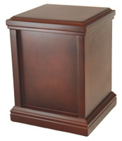 200 Tower Urn with Rich Mahogany Finish