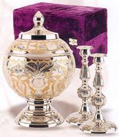 208 SilverGold Cremation Urn Set