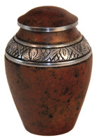 "2500/3"" Solid Aluminum Rustic Brown Keepsake Urn"
