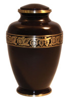 Solid Brass Large/Adult Urn with Rich Mahogany Finish