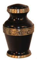 "3000/3"" Keepsake Urn, Rich Mahogany Finish with Engraved Band"