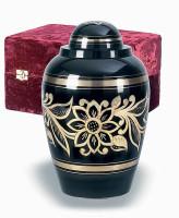 306 Ebony Bouquet Solid Brass Urn
