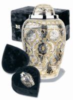 """307/10""""  Dynasty Silver/Gold Urn"""