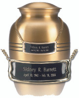33 Bright Brass Medallion (curved)
