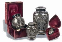 "515/6""  ""Gee Motif"" Engraved Brass Urn"