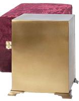 701 Brushed Brass Cube Urn
