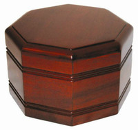 925 Octagon Urn w/ Rich Mahogany Finish