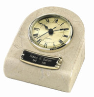 CM-71 Mini Clock Urn Keepsake - Cream Wash
