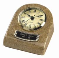 TT-71 Mini Clock Urn Keepsake - Cream/Earth Grain