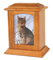 U33 Wood Photo Urn - Graham Cracker Finish - Small/Pet