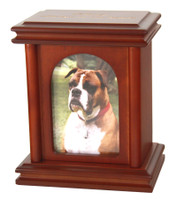 U52 Wood Photo Urn with Cherry Finish - Small/Pet