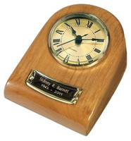 WTU41 Mini Clock Urn Keepsake- Natural Hardwood